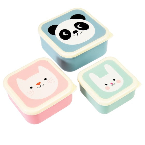 Panda, Cat & Bunny Snack Boxes