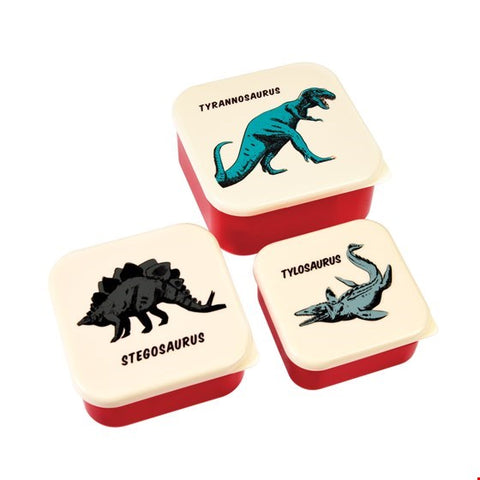 Set of 3 Prehistoric Snack Boxes