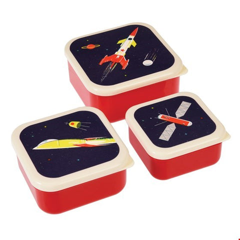 Set of 3 Space Age Snack Boxes