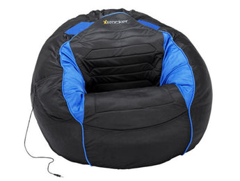 X Rocker® Kahuna Bean Bag with Sound in Black/Blue