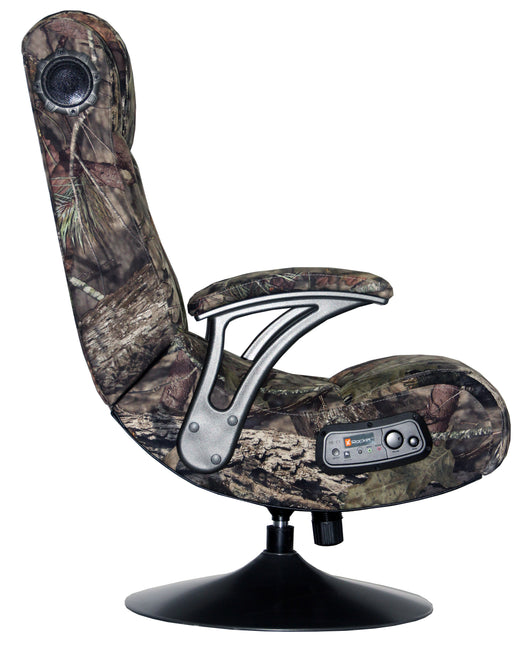 mossy oak x rocker 2 1 bluetooth pedestal gaming chair 5165201