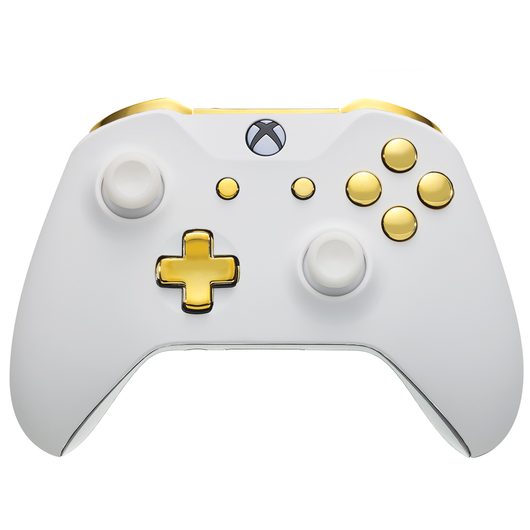 Xbox One Custom Controller - White Velvet & Gold Edition | # 3000501