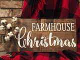 Farmhouse Christmas Sign, Farmhouse Christmas sign with Cotton,  hand painted sign.