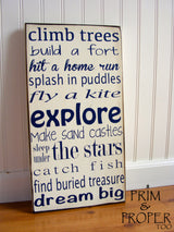 Boy Typography Art Sign