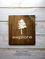 Explore - Typography Wall Art