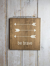 Be Brave with arrows - Typography Wall Art