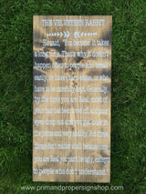 The Velveteen Rabbit - Hand Painted Typography Sign
