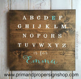 ABC is for…. - Hand Painted Nursery Sign