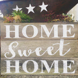 Home Sweet Home- Rustic Hand Painted Sign