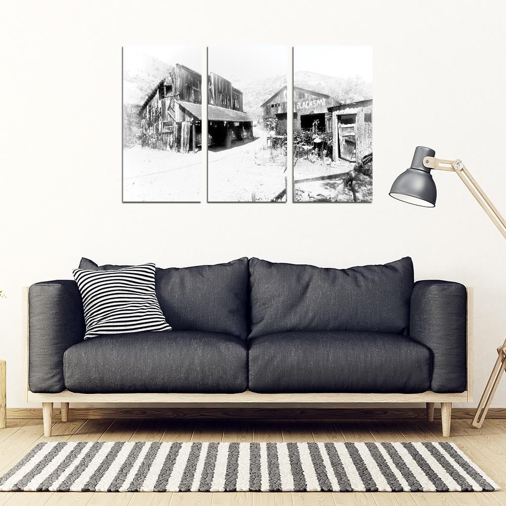 The Miner's Crib 3 Piece Framed Canvas