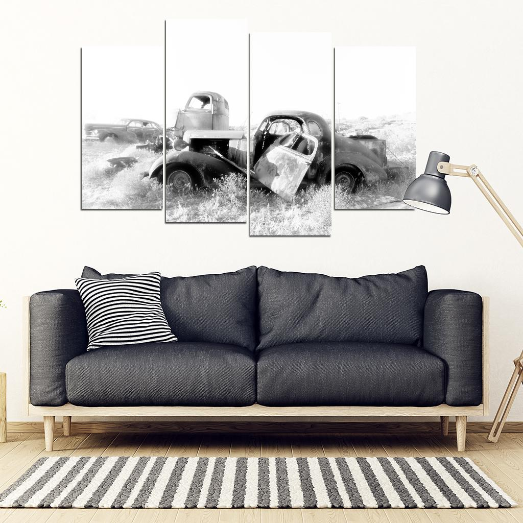 Retired and Lonely 4 Piece Framed Canvas