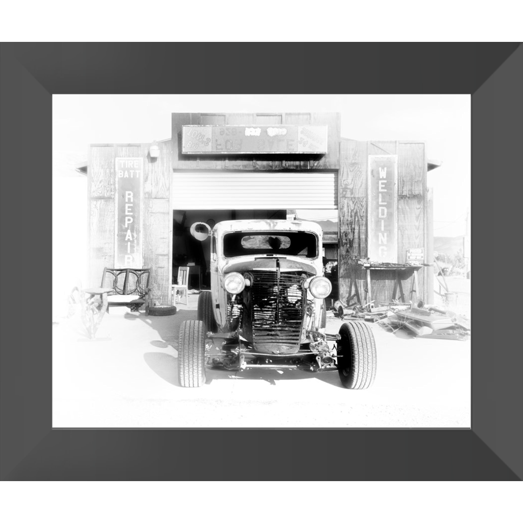 Rat Rod's Garage Framed Prints