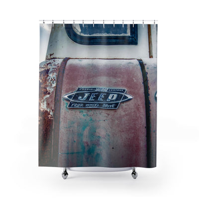 This Old Jeep Shower Curtain