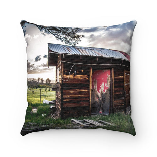 The Pioneer's Dream Spun Polyester Square Pillow