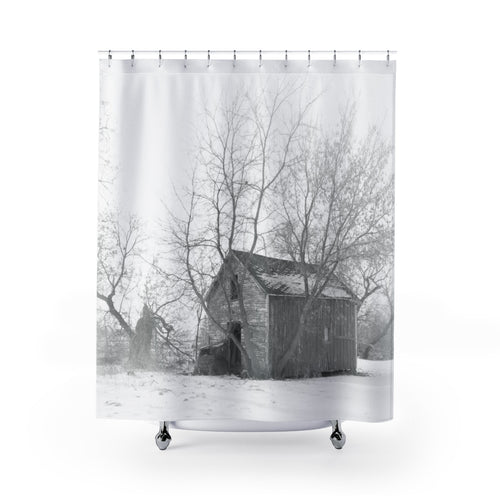 Reflective Serenity Shower Curtain