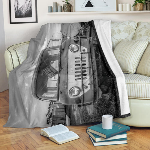 This Old Jeep Premium Blanket