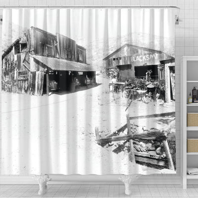 The Miner's Crib Shower Curtain