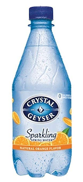 "Orange Flavored ""Sparkling"" Spring Water, 18 Ounces Bottles (Pack of 24)"