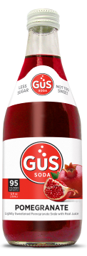 Pomegranate Soda, 12 Ounce Glass Bottles (Pack of 24)