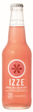 Grapefruit Natural Soda, 12 Ounce Glass Bottles (Pack of 24)