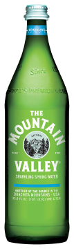 "Mountain Valley ""Sparkling"" Water, 16.9 Ounce Glass Bottles (Pack of 24)"