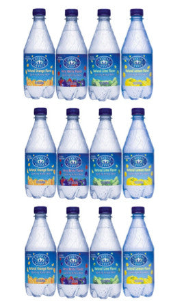 """Sparkling"" Mineral Water, 12 Ounce Glass Bottles (Pack of 24)"