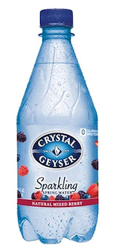 "Mixed Berry Flavored ""Sparkling"" Spring Water, 18 Ounces bottles (Pack of 24)"