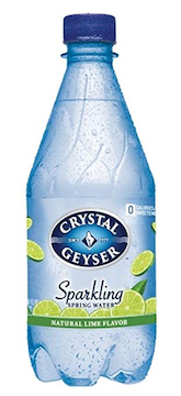 "Lime Flavored ""Sparkling"" Spring Water, 18 Ounces bottles (Pack of 24)"