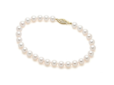 7.5-8mm AA Akoya Cultured Pearl Bracelet