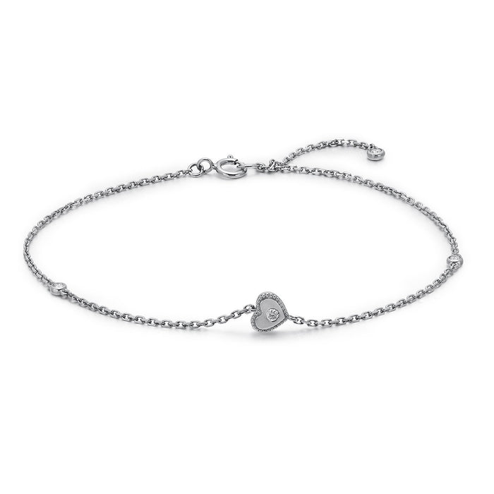 heart white bracelet legacy tara gold anklet collections products diamond by bracelets
