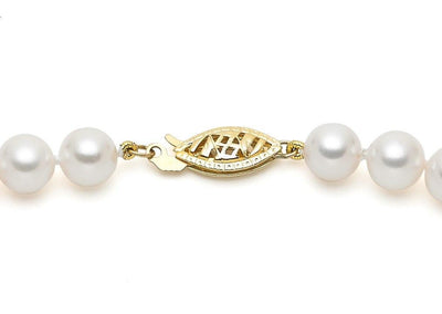7.5-8mm AA Akoya Cultured Pearl Strand