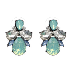 Valencia Crystal Stud Earrings