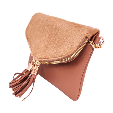 Fur Accent Clutch