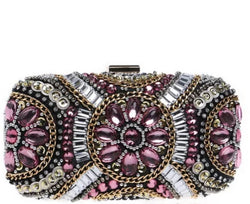 Pink Crystal Clutch