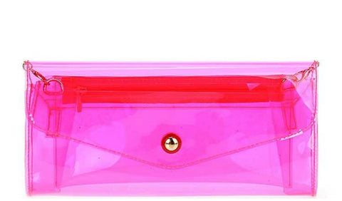 Neon Transparent Clutch