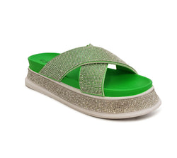 Green Bling Sandal