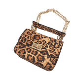 Leopard Print Box Purse