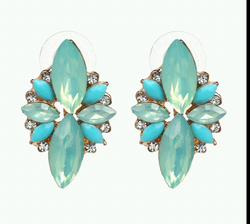 Precious Seafoam Green Dangle Earrings