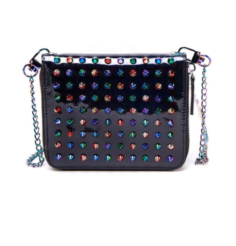 Miniature Rainbow Studded Crossbody