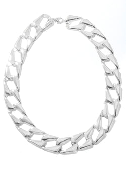 Flat Link Metallic Necklace