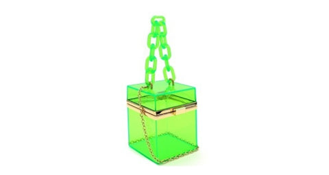 Clear Green Hard Box Purse