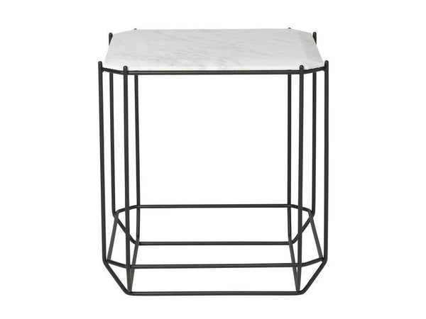 THE JEWEL SIDE TABLE MARBLE TOP WHITE