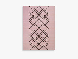 RUG BORG - 140X200 - LIGHT ROSE