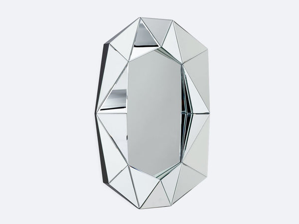 DIAMOND MIRROR LARGE, SILVER/SILVER