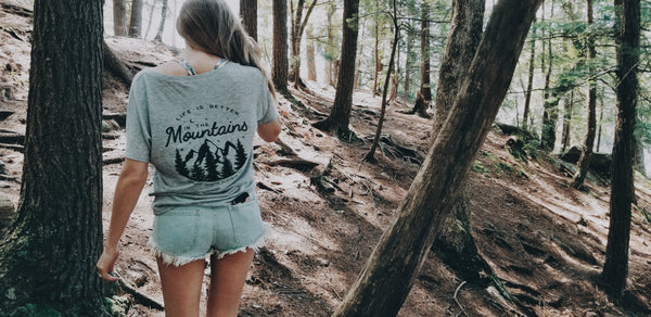 nomadic hearts clothing co life is better in the mountains tee. photos by karissa patton.