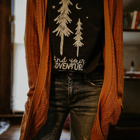 find your adventure long sleeve tee