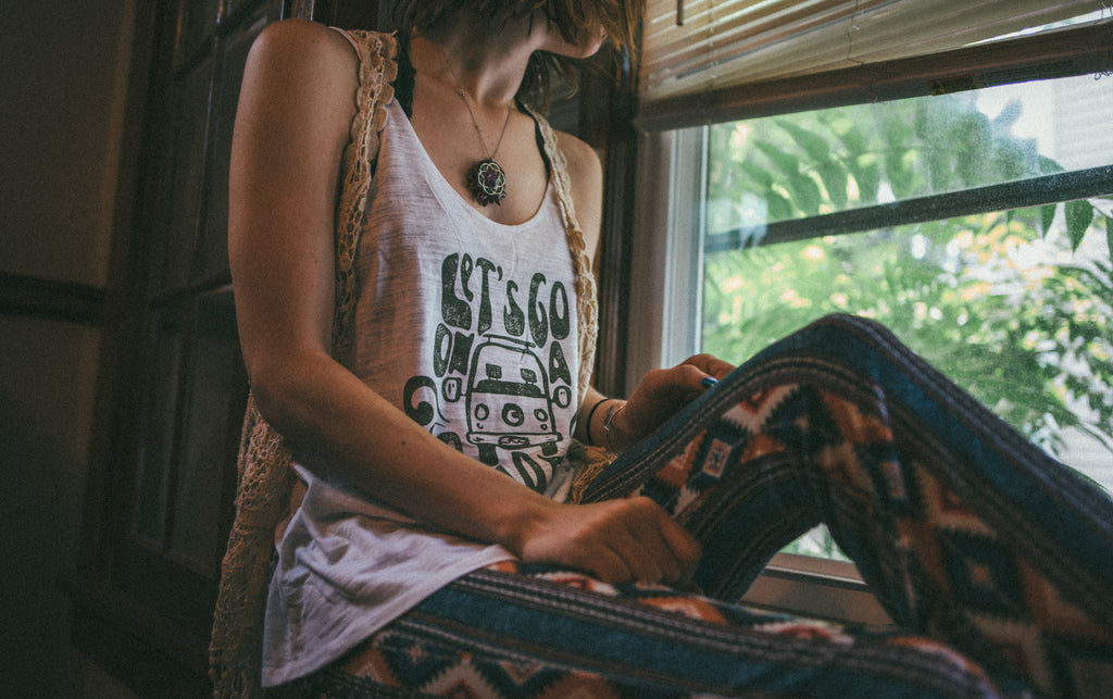 NEW! road trip slouchy tank