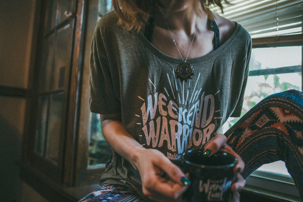 weekend warrior slouchy tee
