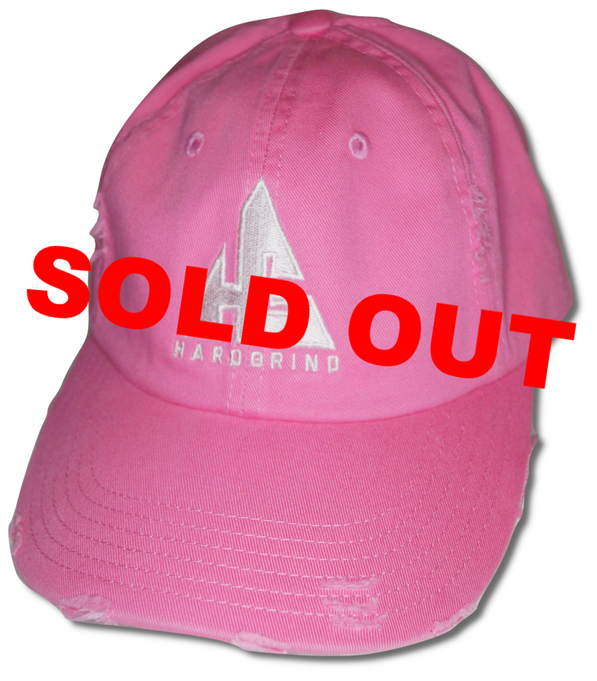 HG (Distressed) Dad Hat - Pink White – HARD GRIND STREETWEAR 825538a8ef1