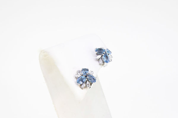 Aquamarine And Diamond Earrings-Jewelry-store-boston-2